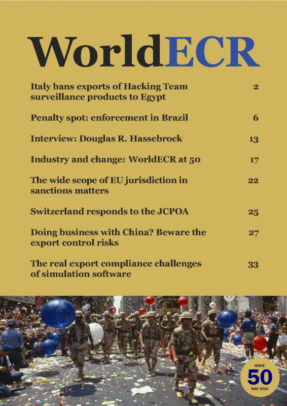COVER WorldECR issue 50