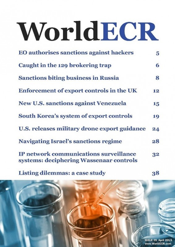 WorldECR issue 39 cover