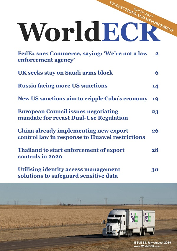 The Journal of Export Controls & Sanctions | WorldECR